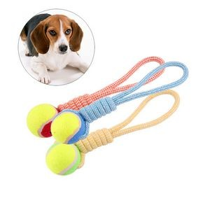 Dog Cotton Rope Tennis Ball Chewing Toy